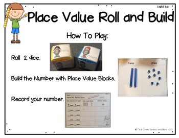 1.NBT.B.2 Place Value Roll and Build