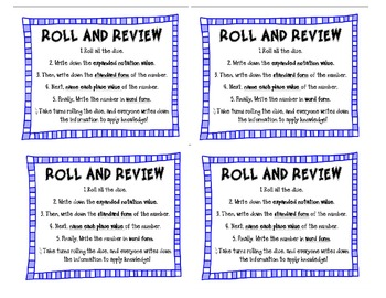 Place Value Roll and Review