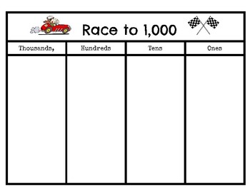Place Value - Roll to 100 & Roll to 1,000