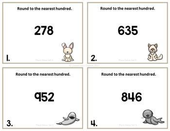 Place Value Round to Nearest Hundred Set 5