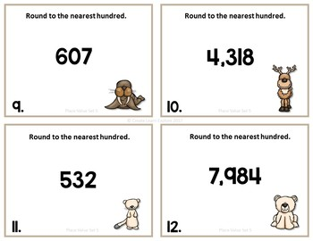 Place Value Round to Nearest Hundred Set 5