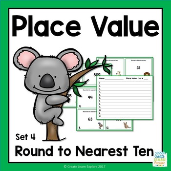 Place Value Round to Nearest Ten Set 4