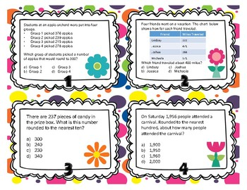 Place Value Rounding 3.NBT.1 Task Cards