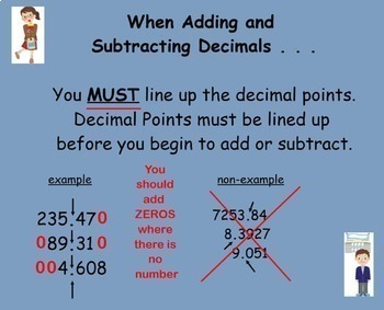 Place Value, Rounding, Add and Subtract Decimals Smartboard Lesson