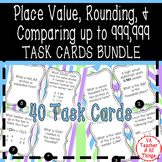 Place Value Rounding Comparing SOL 3.1 Task Cards Bundle