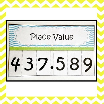 Place Value & Rounding Decimals Foldable