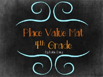 Place Value, Rounding, Expanded Form Mat 4th grade