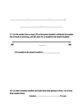Place Value & Rounding Study Guide 4.NBT.1, 4.NBT.2, 4.NBT.3