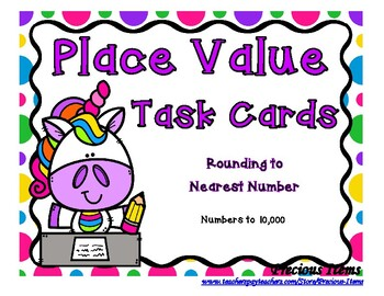 Place Value Rounding to Nearest Number Task Cards