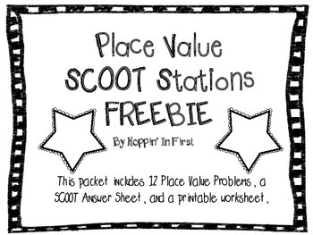 Place Value SCOOT Stations Freebie