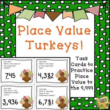Place Value SCOOT - Turkey/Thanksgiving Theme - Place Valu