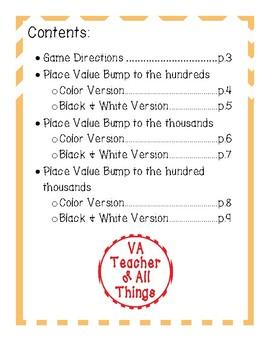 Place Value SOL 3.1a Bumps