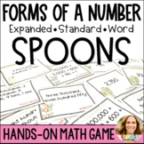 Spoons Place Value Game
