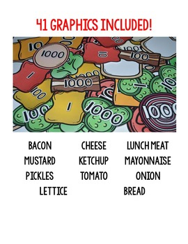 Place Value Sandwich Chef (Graphics Booster Pack!)