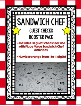 Place Value Sandwich Chef (Guest Checks Booster Pack!)