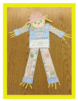 Place Value Scarecrow