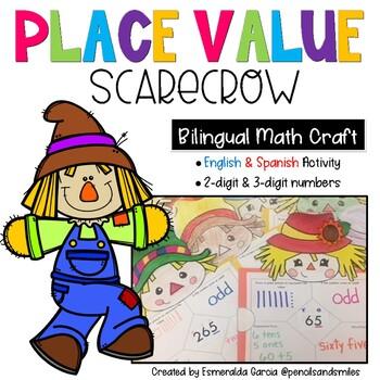 Place Value Scarecrow Craft (Bilingual)