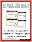 Place Value Scavenger Hunt #6: Writing Decimals in Different Forms