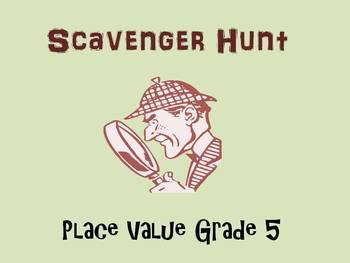 Place Value Scavenger Hunt, Grade 5