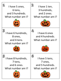 Place Value Scavenger Hunt - Jack-o-Lantern Theme