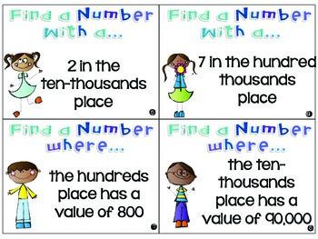 Place Value Scavenger Hunt Task Cards {3.NBT.1}