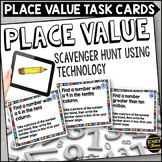 Place Value Scavenger Hunt Task Cards