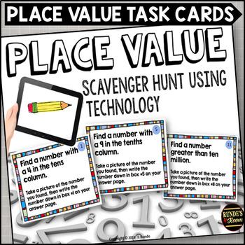 Place Value Scavenger Hunt Task Cards