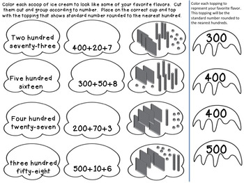 Place Value Scoops