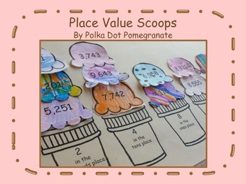 Place Value Scoops Cut & Paste