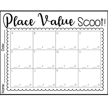 Place Value Scoot!