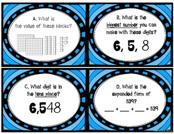 Place Value Scoot