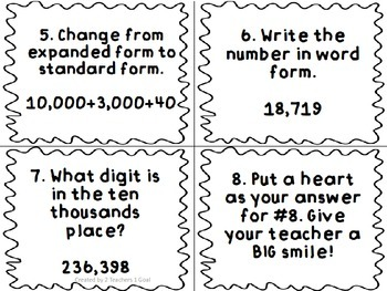 3rd Grade Place Value Scoot
