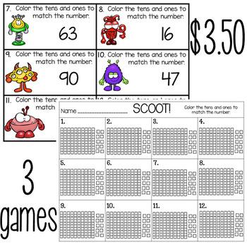 Halloween Math Number Sense Scoot