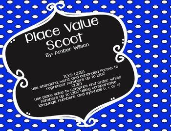 Place Value Scoot TEKS 2.2B