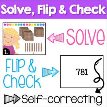 Place Value Scoot - 3-digit numbers using base 10 (MAB) blocks
