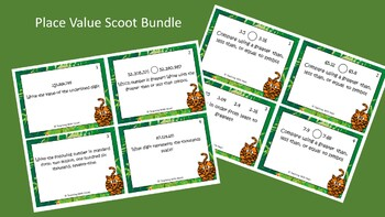 Place Value Scoot Activity/Task Card Bundle