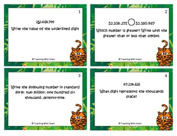 Place Value Scoot Activity/Task Cards