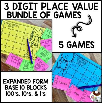 Place Value Scoot Game Bundle