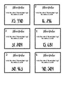 Place Value Scoot Game - Grade 4