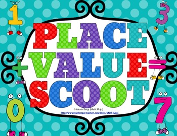 Place Value Scoot - Grades 3 - 5