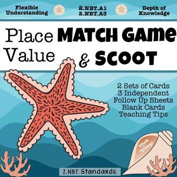 Place Value Scoot & Match Games 2.NBT.A1 and 2.NBT.A3 DOK Flexible Understanding