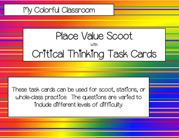 Place Value Scoot Task Cards