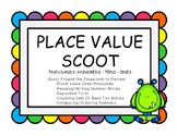 Place Value Scoot- Thousands, Hundreds, Tens, Ones