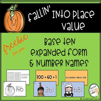 Place Value Scoot for Expanded Form, Base Ten, & Word Form