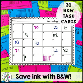 Place Value Scoot or Task Cards (to 120)