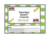 Place Value Scoot to the 100,000 for 3rd and 4th Grade