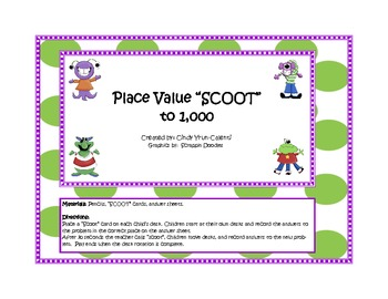 """Place Value """"Scoot"""" to the 1,000's"""