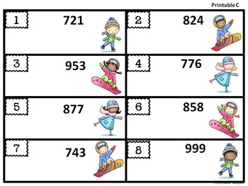 Place Value: Winter Kids (Second Grade)