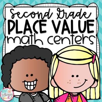 Place Value Second Grade Math Centers