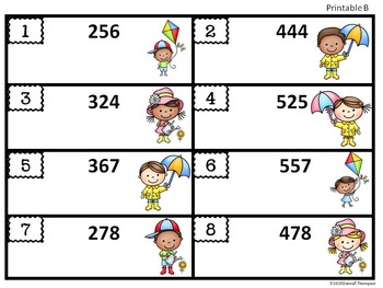 "Place Value ""Spring Kids"" (Math Center)"